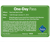 Sam's Club has a free one day pass available. Do not miss out on your chance to save now. This deal is linked below. Visit a Sam's Club today.