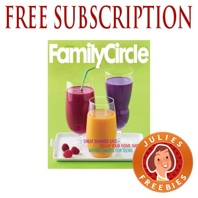 Free Subscription To Family Circle Magazine Julie S Freebies