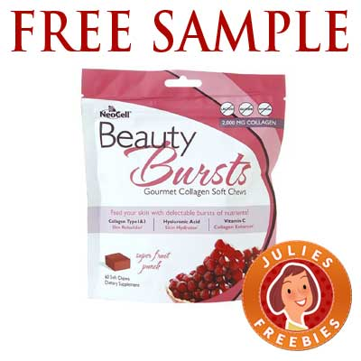 Makeup Freebies on Free Beauty Bursts Collagen Soft Chews Sample   Julie S Freebies