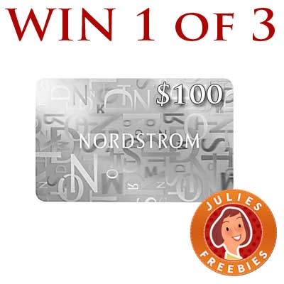 Win 1 of 3 100 Nordstrom Gift Cards