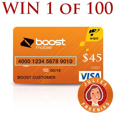 Win 1 Of 100 Boost Mobile Wallet Prepaid Cards Julie S Freebies