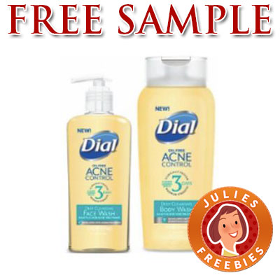Free Dial Acne Control Face & Body Wash Samples | Julie's Freebies