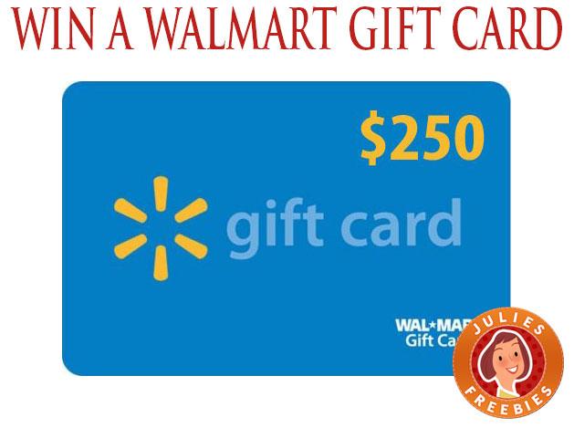 Enter to Win a $250 Walmart Gift Card - 5 winners - Julie's Freebies