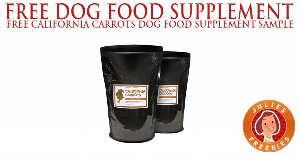 free-california-carrots-dog-food-supplement-sample