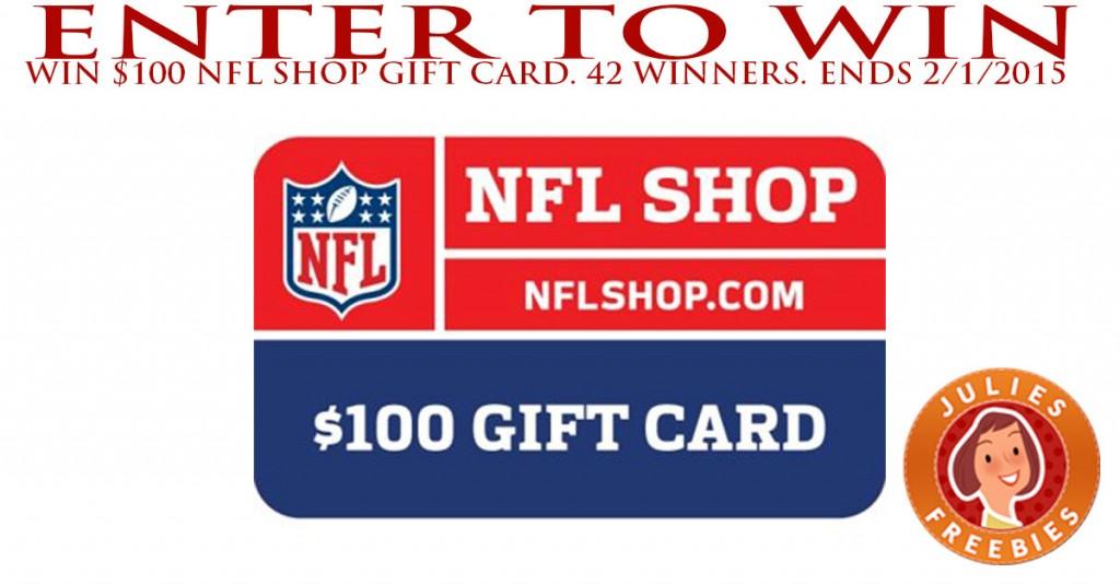 Enter to Win a $100 NFL Shop Gift Card - 42 winners - Julie's Freebies