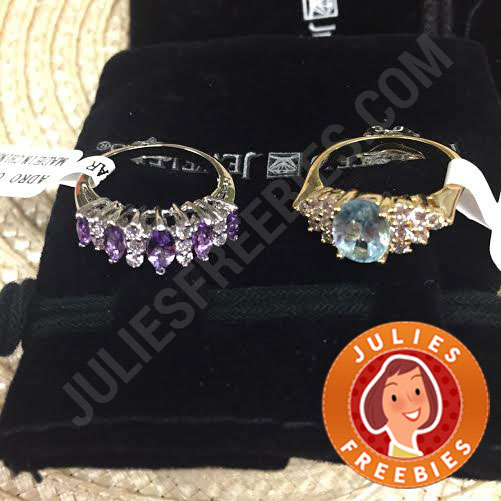 My Gemstone Rings that Arrived 3/9/15