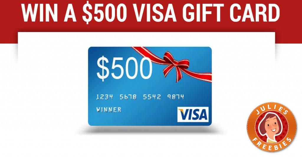 Enter to win a 500 visa gift card julies freebies win 500 visa gift card negle Gallery
