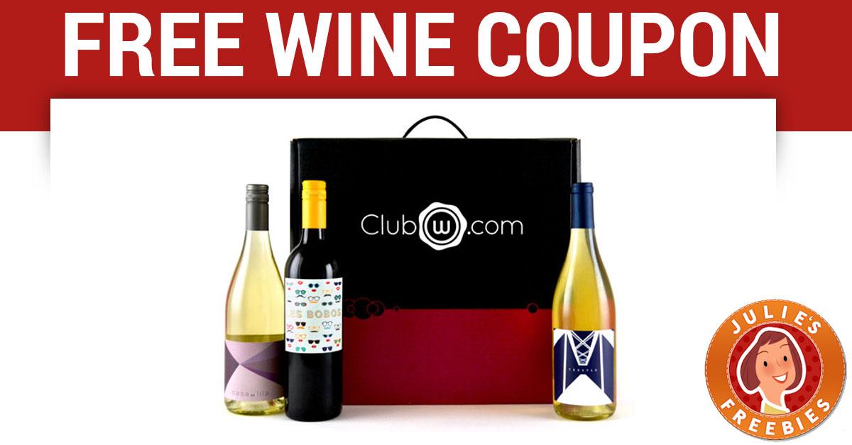 Free Wine - Sign up for 2 free bottles! - Julie's Freebies