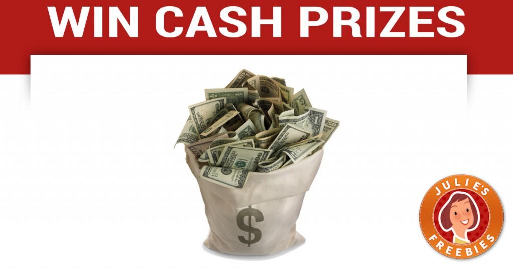 enter to win a cash prize julie s freebies