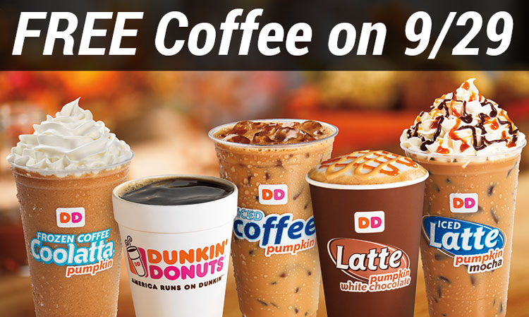 free coffee dunkin donuts