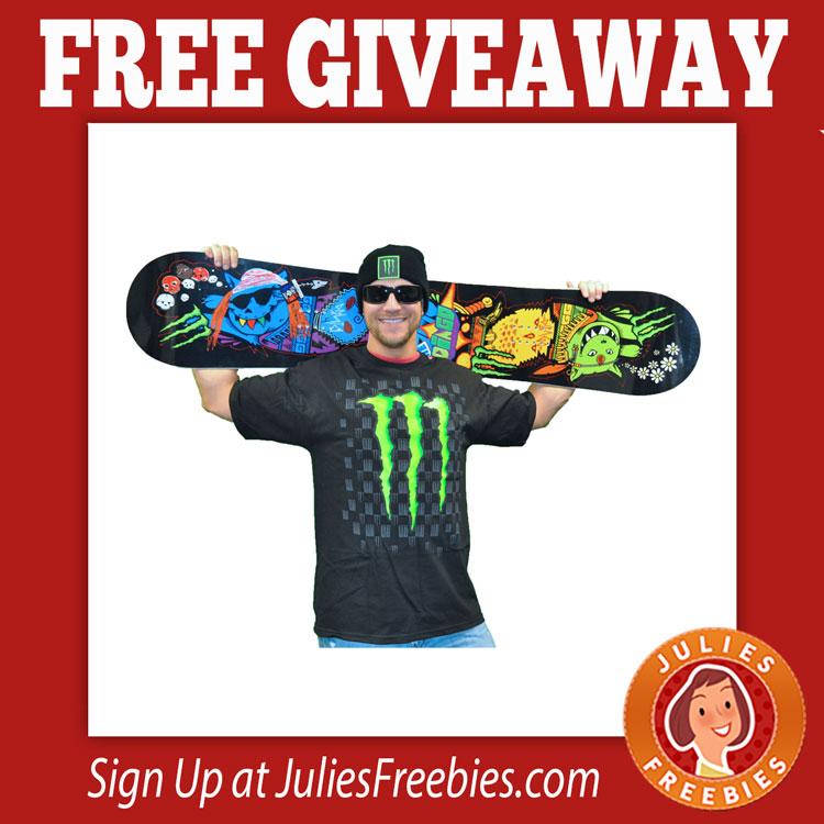 Free Monster Energy Snowboard Giveaway Julie S Freebies