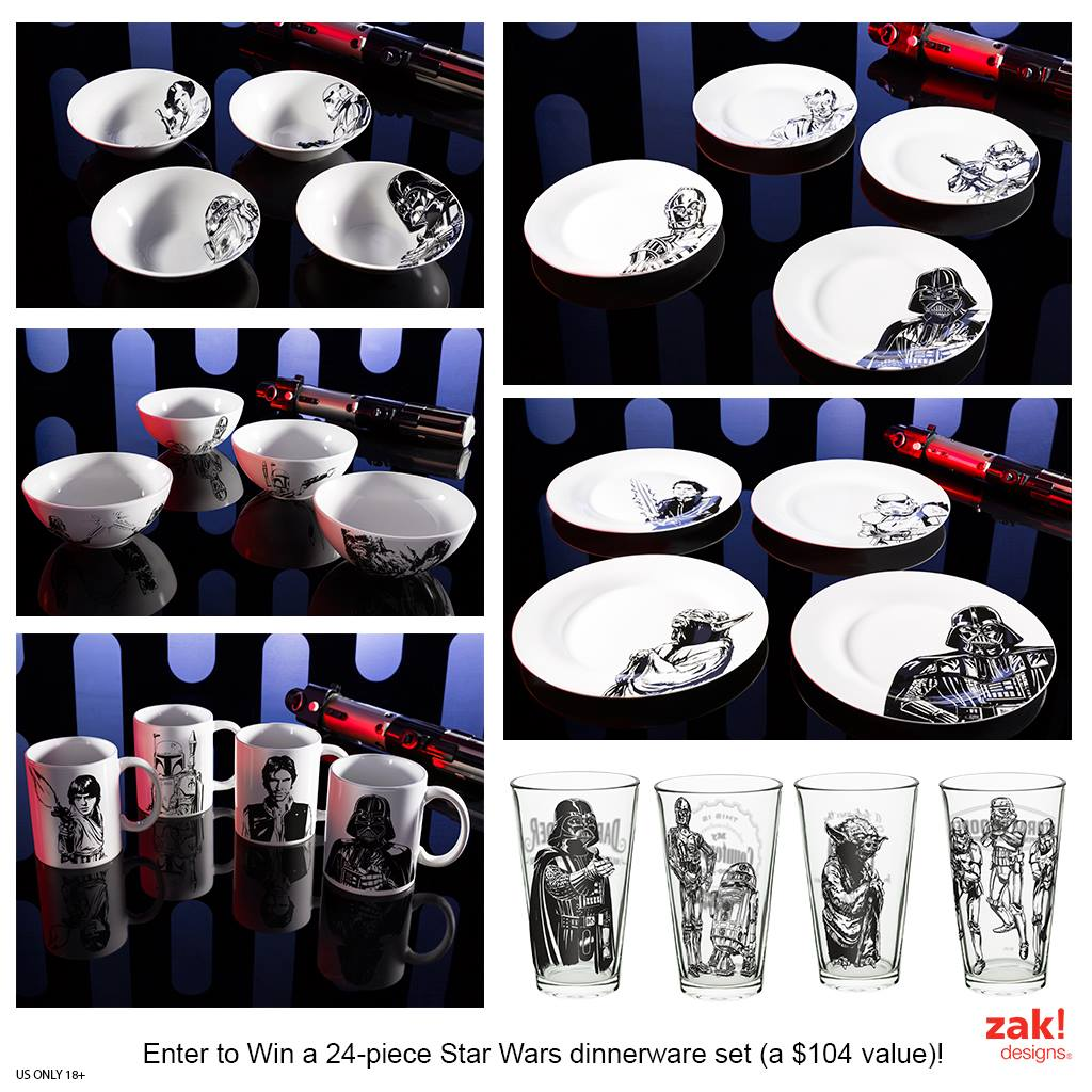 Win A Star Wars Dinnerware Set Julie S Freebies