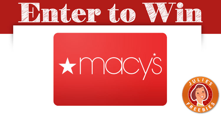 Win a $1,000 Macys Gift Card - Julie's Freebies