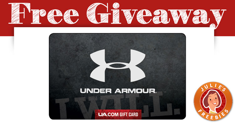 58c34de6f2 Free Under Armour Gift Card Giveaway - Julie's Freebies