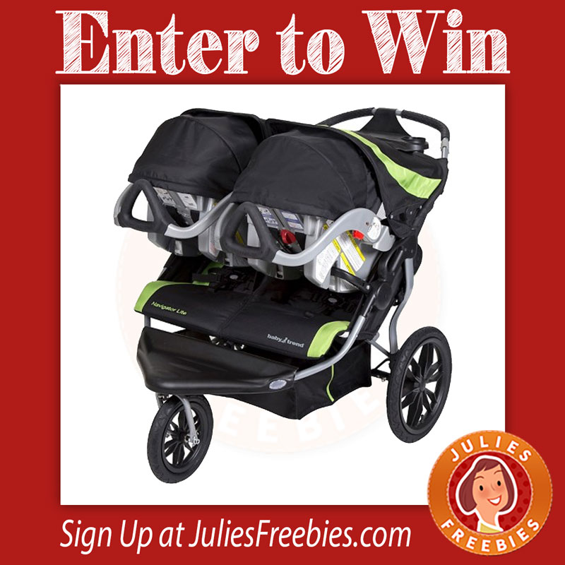 win a navigator lite double jogger stroller julie 39 s freebies. Black Bedroom Furniture Sets. Home Design Ideas