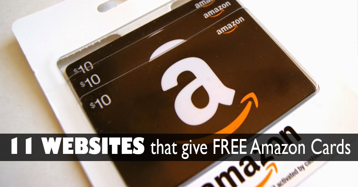 11 sites that give free amazon gift cards julie s freebies
