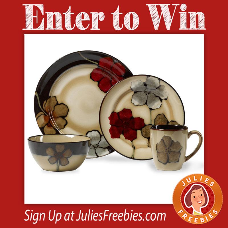 painted-poppy-dinnerware-set  sc 1 st  Julie\u0027s Freebies & Win a Painted Poppy Dinnerware Set - Julie\u0027s Freebies