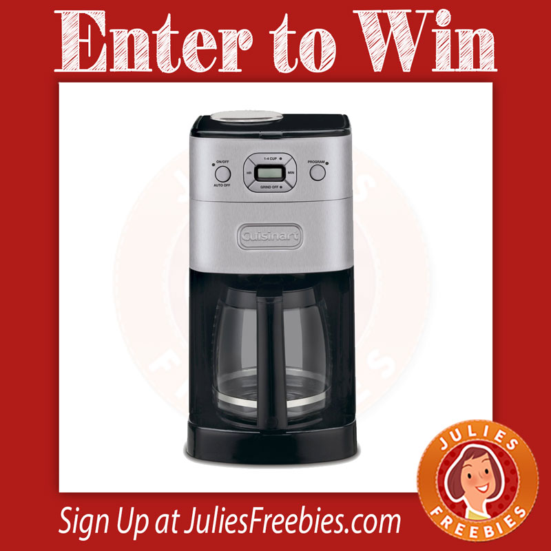 Win a Cuisinart Grind and Brew Coffee Maker - Julie s Freebies