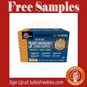 Free Rainy Day Ready Emergency Food Sample - Julie's Freebies
