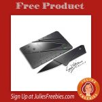 Free CardSharp Metal Folding Knife