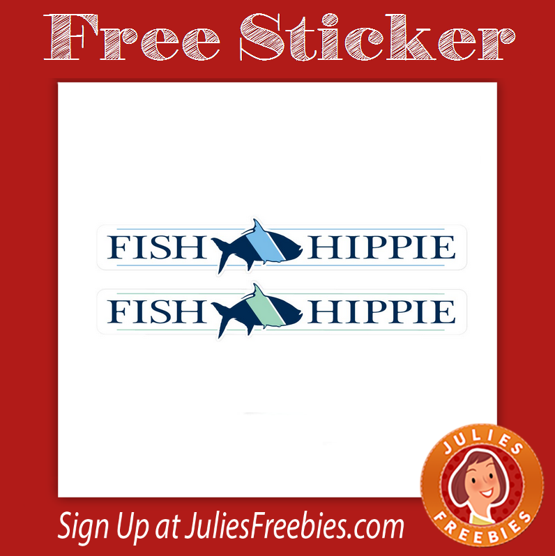 Freebies archives page 95 of 940 julie 39 s freebies for Fish hippie sticker