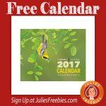 Free 2017 A Year With Birds Calendar