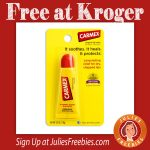 Free Carmex Lip Care Product at Kroger