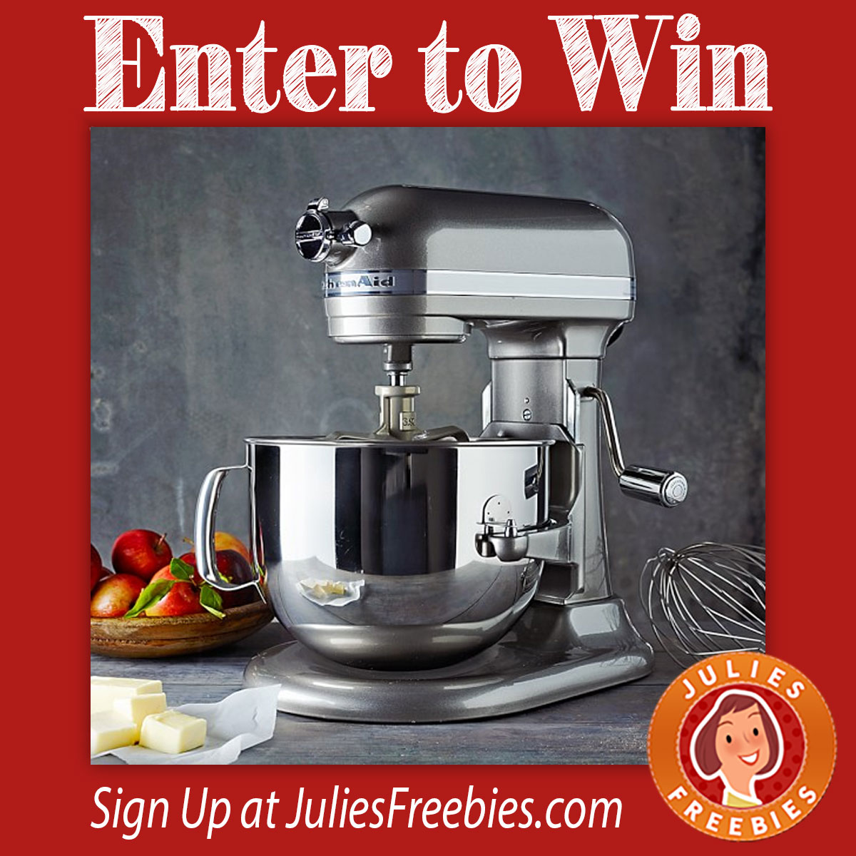 Uncategorized Kitchen Appliance Sweepstakes baking essentials sweepstakes julies freebies kitchenaidpromixer