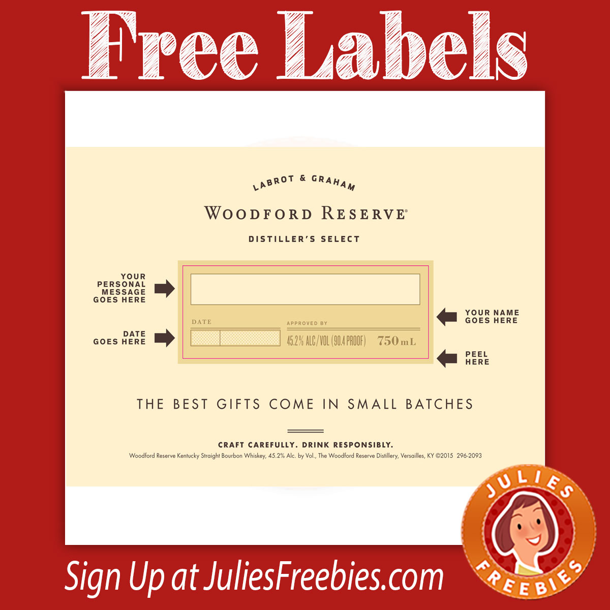 It is an image of Exceptional Woodford Reserve Personalized Label Program