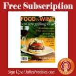 Free Food and Wine Magazine Subscription