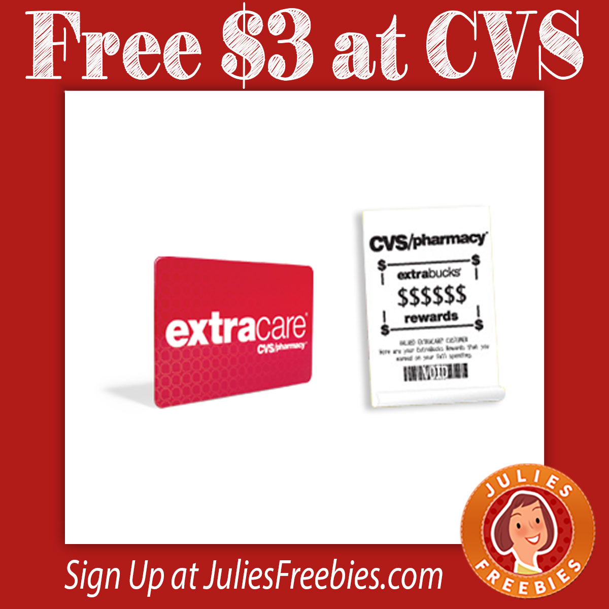 free 3 extracare bucks at cvs julie 39 s freebies. Black Bedroom Furniture Sets. Home Design Ideas