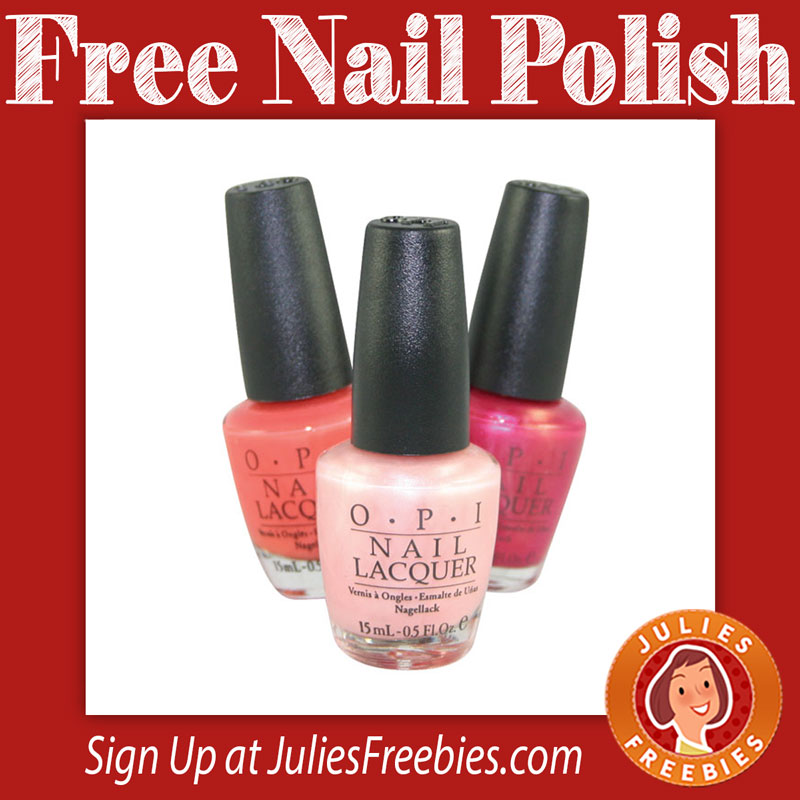 FREE OPI Nail Polish - Julie\'s Freebies