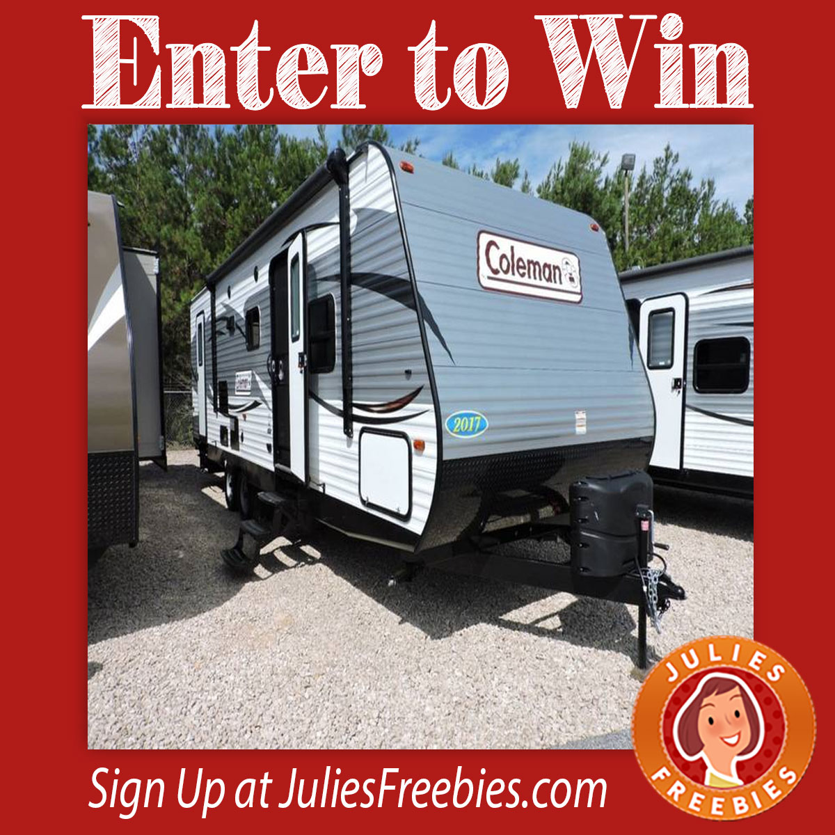 Enter To Win  Coleman Travel Trailer