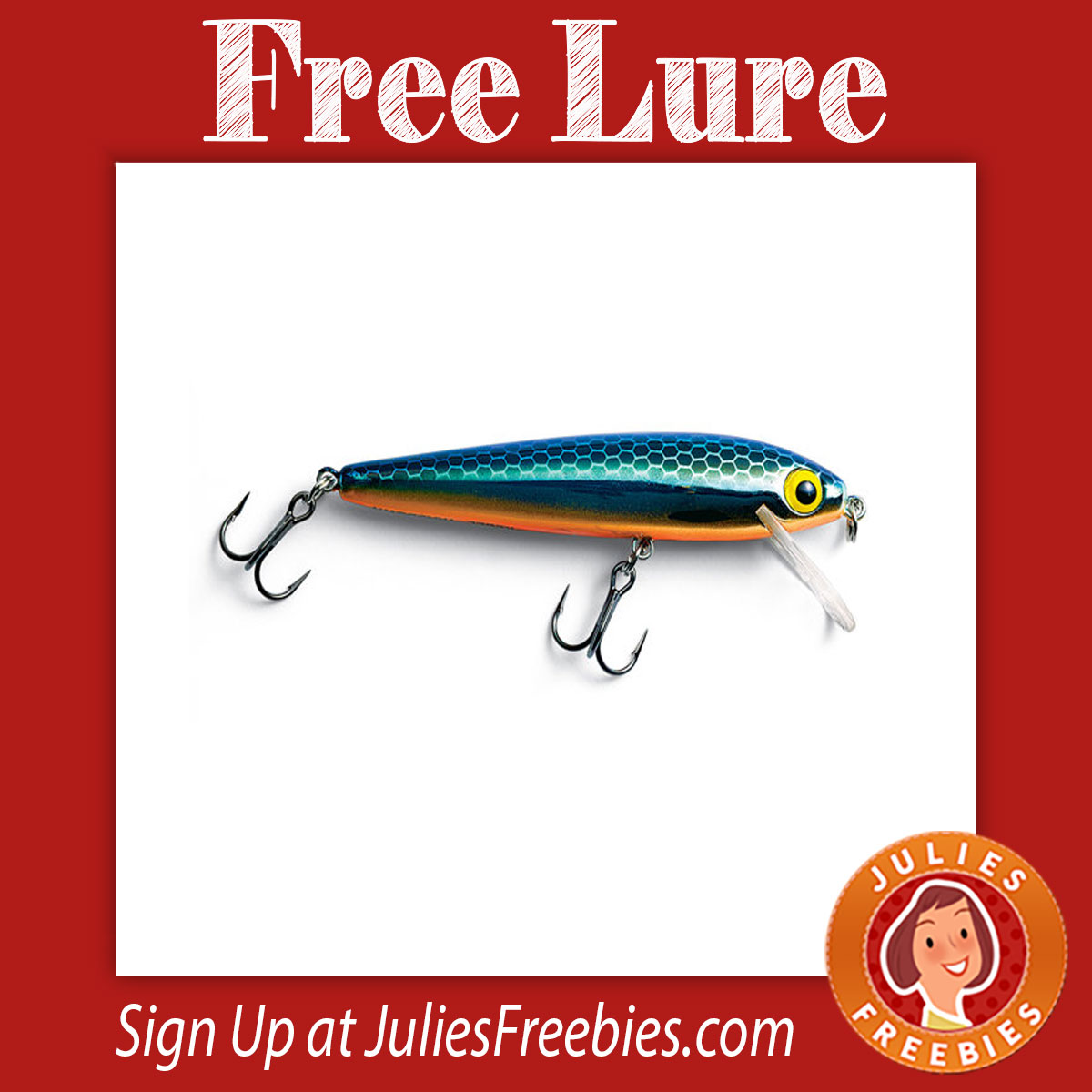 Possible free lures and fishing gear julie 39 s freebies for Free fishing stuff