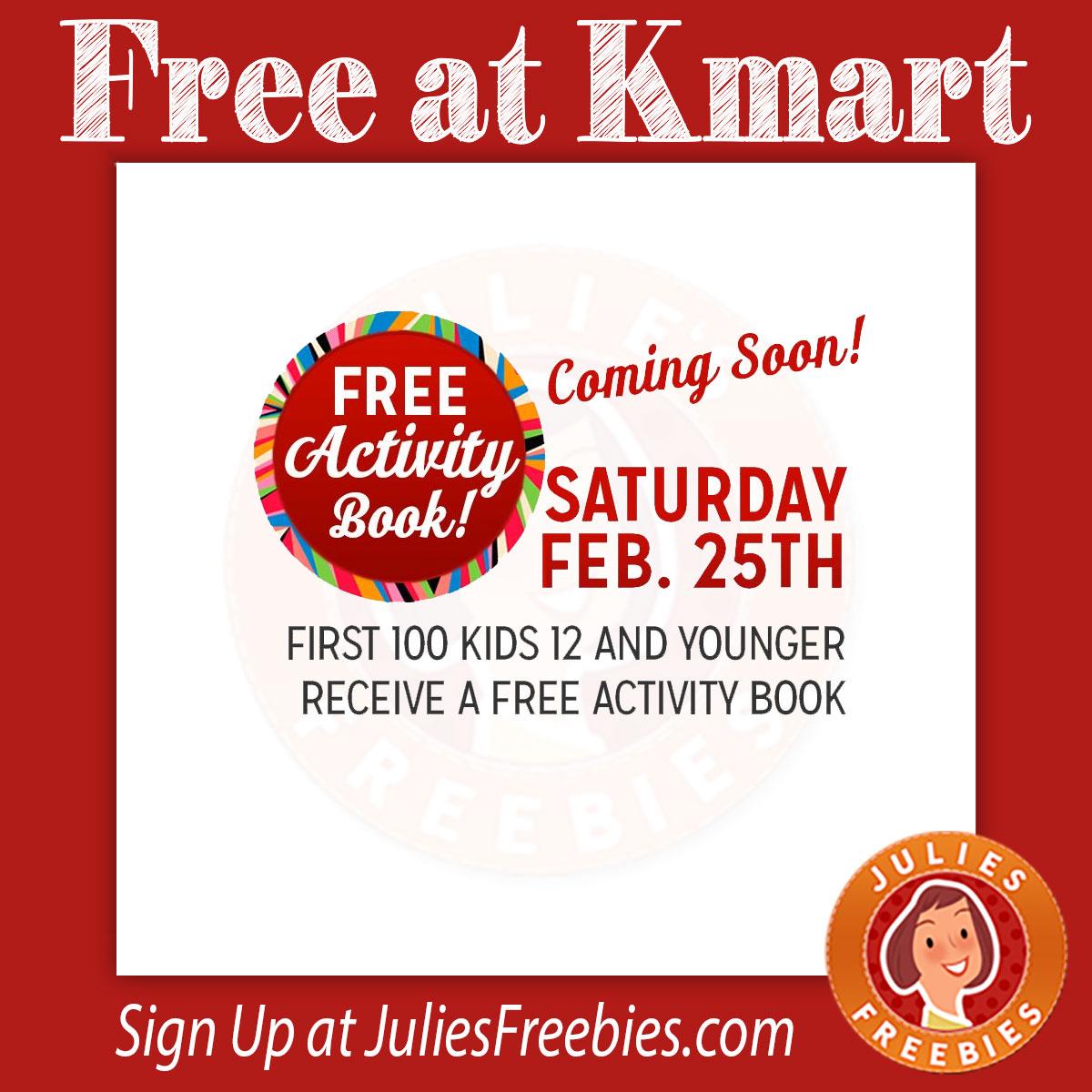 Free Activity Book At Kmart
