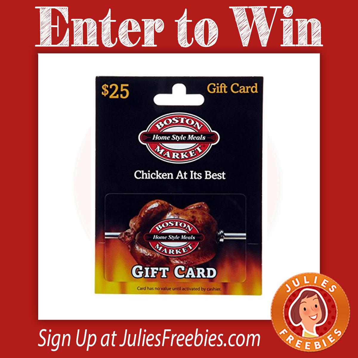 Win A $100 Boston Market Gift Card