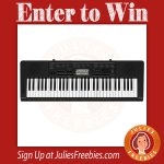 Win a Casio Portable Keyboard
