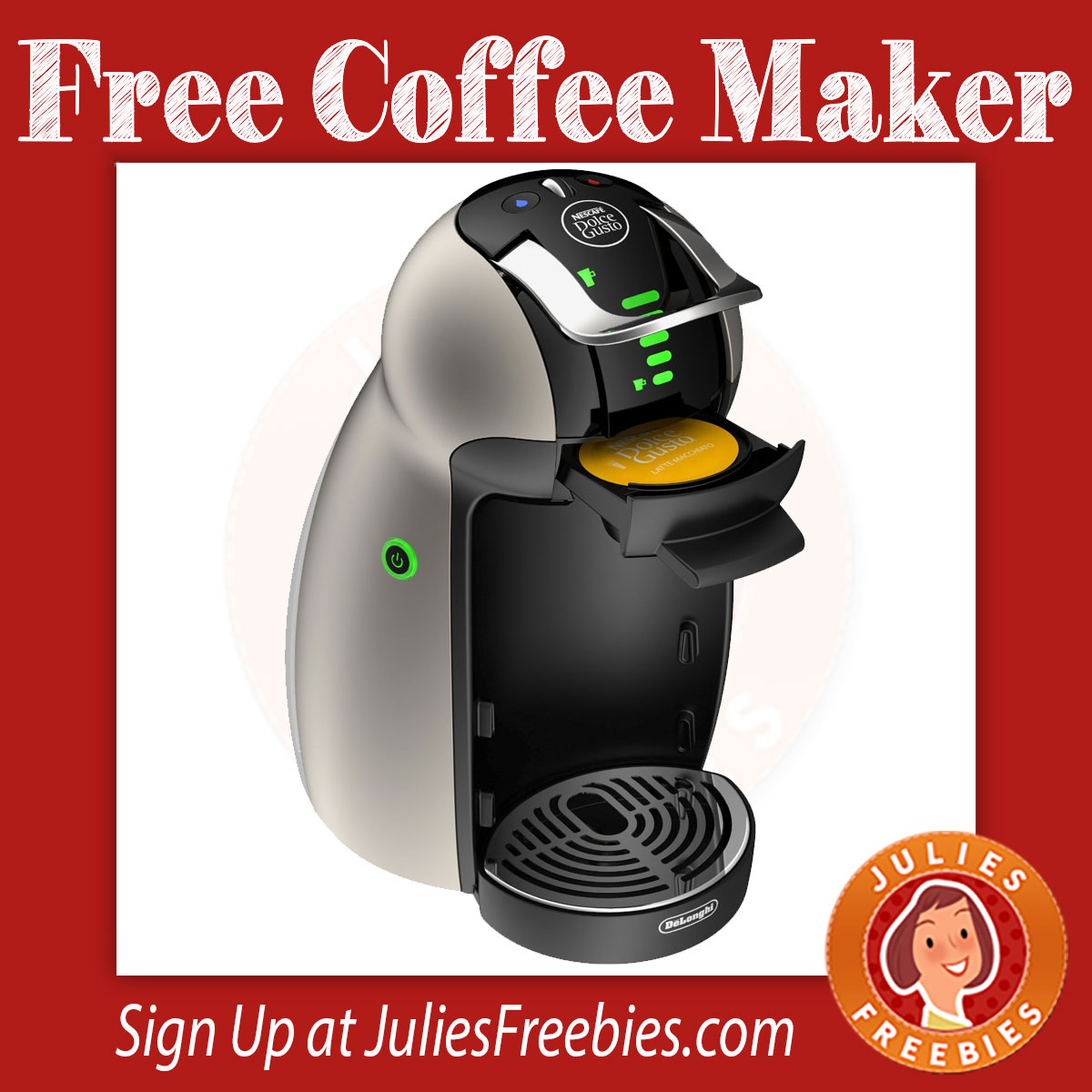 possible free nescaf dolce gusto coffee machine julie. Black Bedroom Furniture Sets. Home Design Ideas