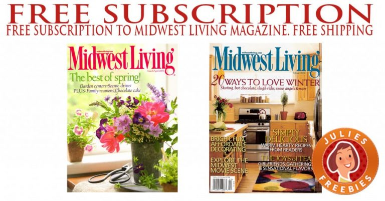 Here Is An Offer Where You Can Sign Up To Receive A FREE 2 Year Subscription  To The Midwest Living Magazine!