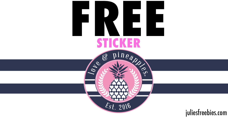 freeloveandpineapples-sticker