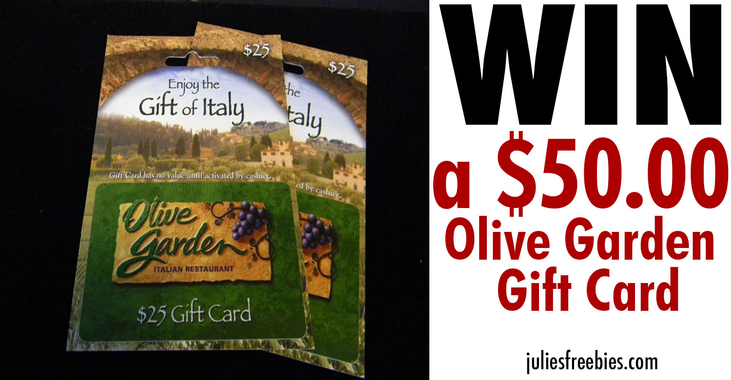 Win An Olive Garden Gift Card Julie 39 S Freebies