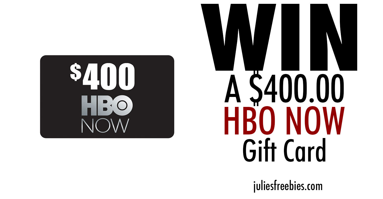 hbo now gift card win a 400 hbo now gift card julie s freebies 7092