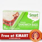 Free Smart Sense Sandwich Bags at KMART