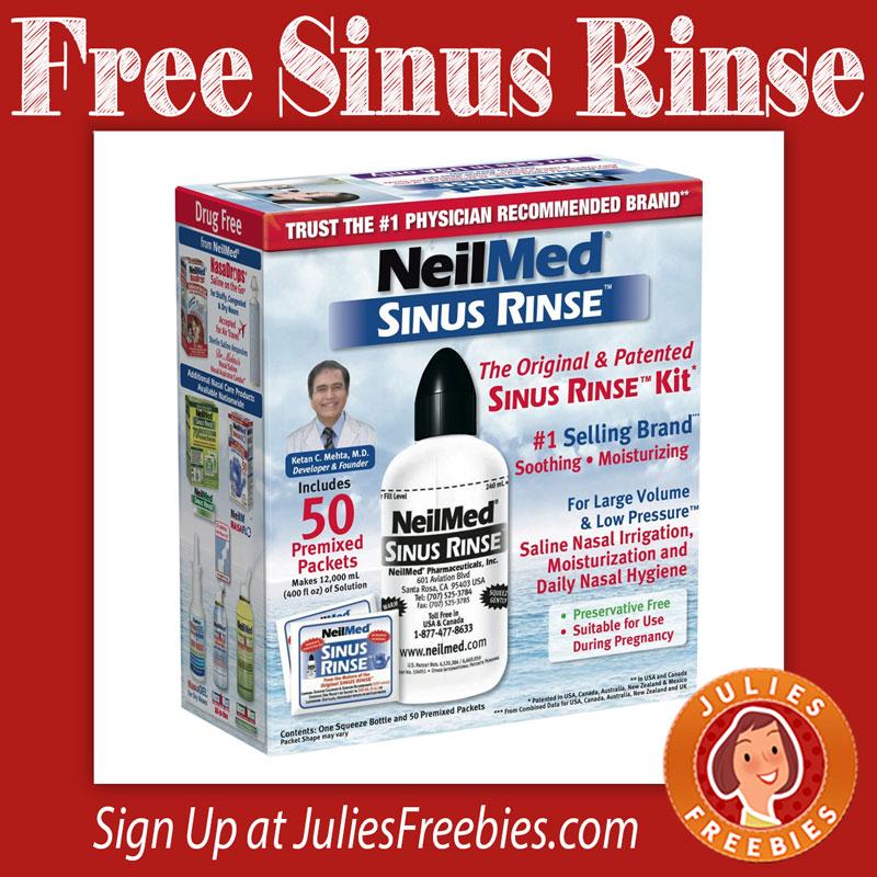 Free NeilMed Sinus Rinse Kit - Julie's Freebies