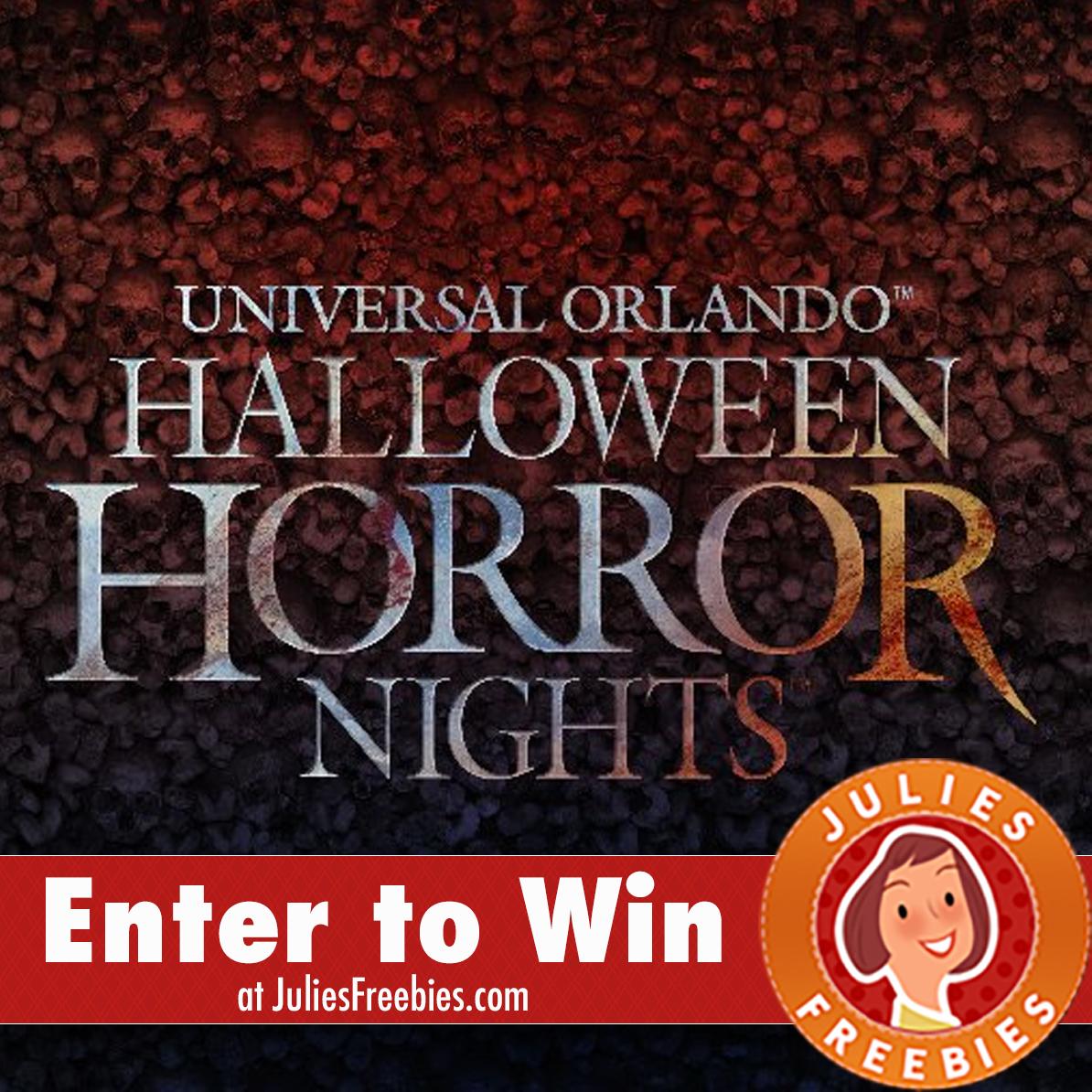 Halloween Horror Nights 2017 Sweepstakes - Julie's Freebies