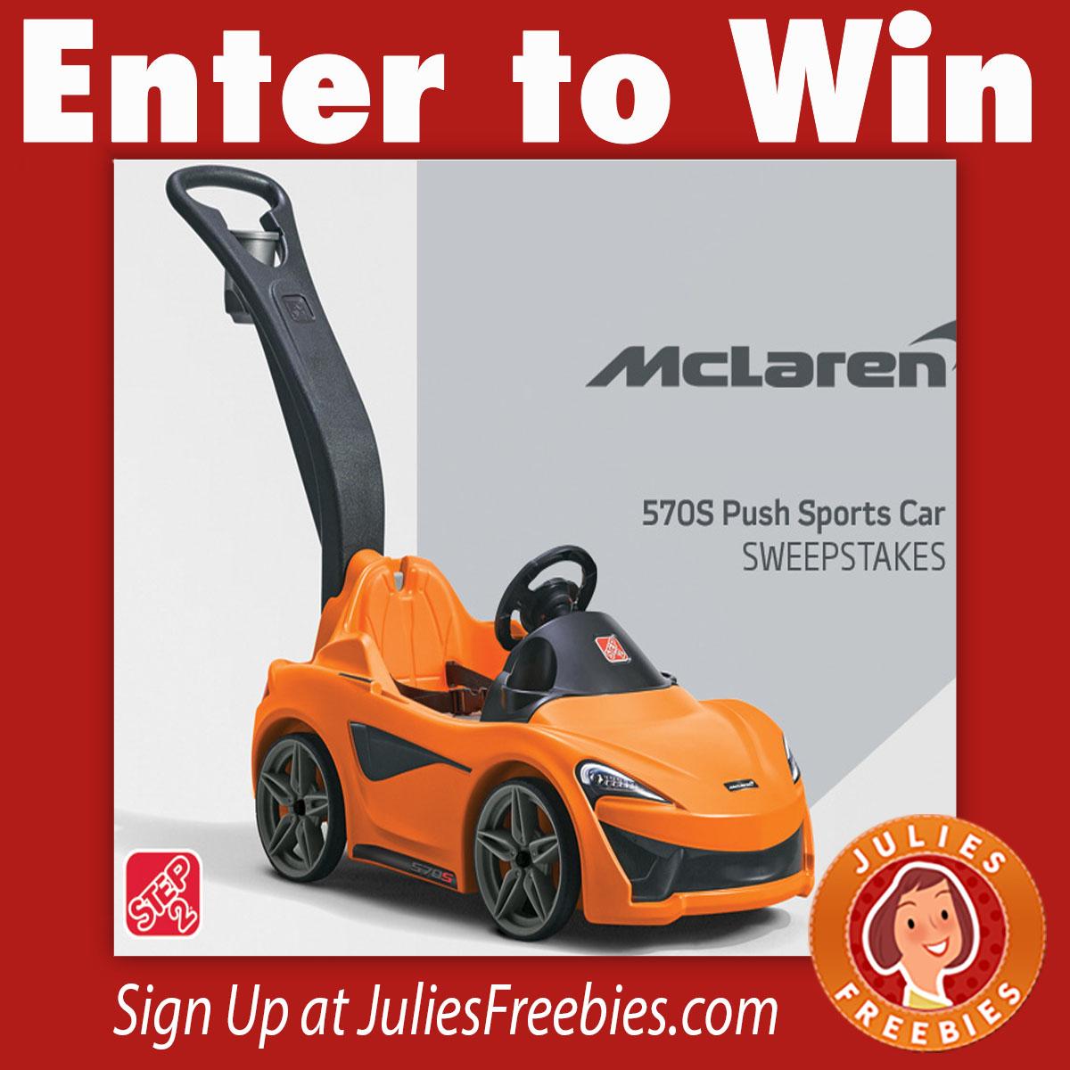 Win A Step2 McLaren 570S Push Sports Car