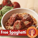 Free Spaghetti and Meatballs at Carrabba's