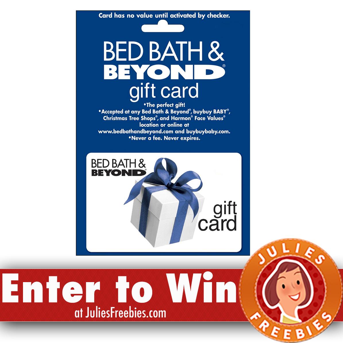 Win a $200.00 Bed Bath & Beyond Gift Card - Julie's Freebies