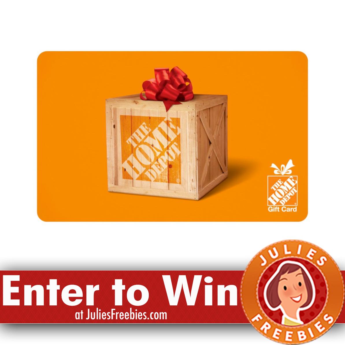 Win a $1,000 Home Depot Gift Card - Julie's Freebies