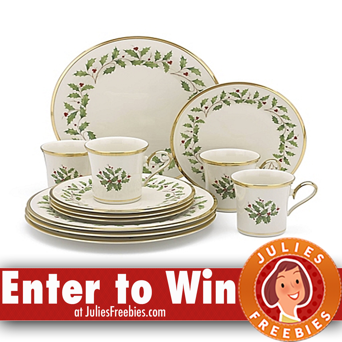 Win Two (2) Lenox® Holiday™ 12 u2013 Piece Dinnerware Sets. Includes eight (8) place settings with 10.5u2033 dinner plate 8u2033 salad plate and 6u2033 bowl.  sc 1 st  Julieu0027s Freebies & Win 2 Lenox Holiday Dinnerware Sets - Julieu0027s Freebies